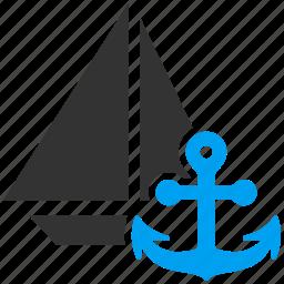 boat, marine, navigate, navigation, sail, ship, yacht icon