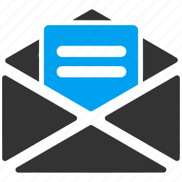 e-mail, email, envelope, letter, message, open mail, send icon