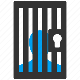 camera, jail, judge, police, prison, prisoner, safety icon