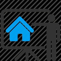 building, company, concept, conference, home, presentation, report icon
