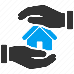 apartment, building, hands, home, house, insurance, real estate icon