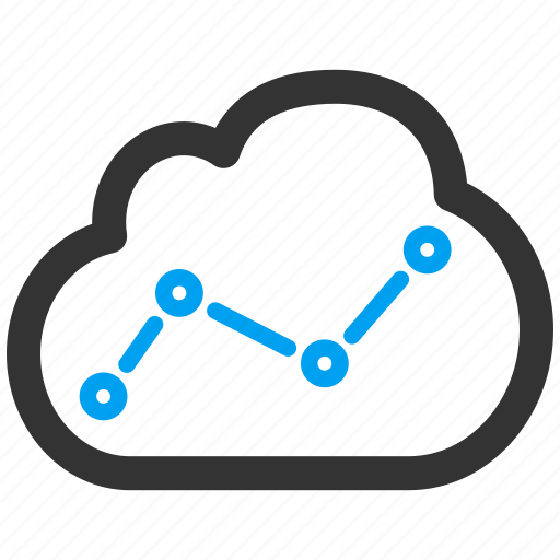 analytics, chart, cloud, data, diagram, graph, report icon Rain Cloud