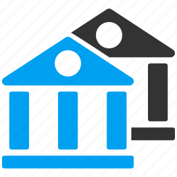 bank, banking, building, house, museum, property, real estate icon