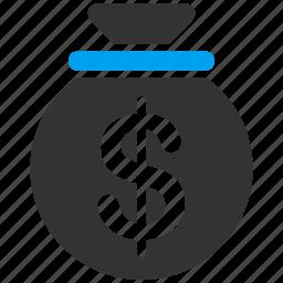 cash, finance, gain, income, payment, profit, sack icon