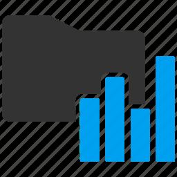 chart, file, folder, graph, report, statistics icon