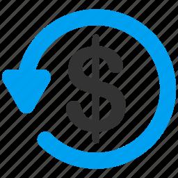 chargeback, fraud, refund, restore, reverse, revert, rollback icon