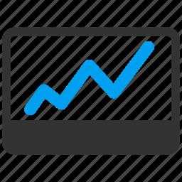 chart, graph, money, report, statistics, stock market icon