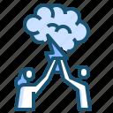 brainstorm, team icon