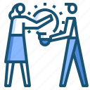 bulb, idea, teamwork icon