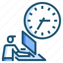 schedule, time, work icon