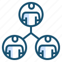 business, meeting, organization, structure icon
