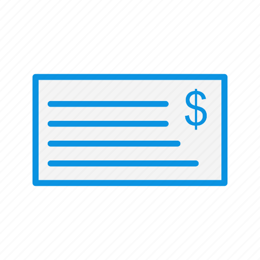 cheque, currency, finance, money icon