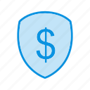 finance, protection, sheild icon