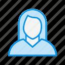 profile, user, woman icon