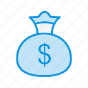 bag, currency, finance, money icon