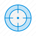 aim, goal, success, target icon