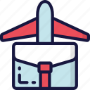 business, flight, flying, trips, vacation icon