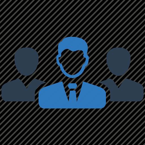 businessman, leadership, team icon