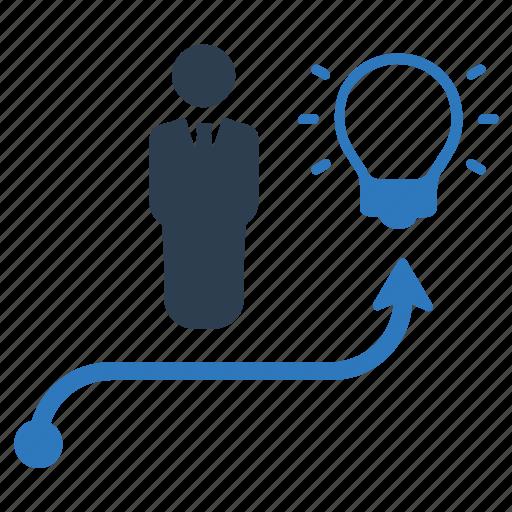 brainstorming, business idea, business success icon
