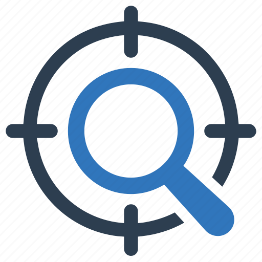 search, seo, target icon