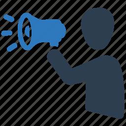 advertising, business, marketing, megaphone icon