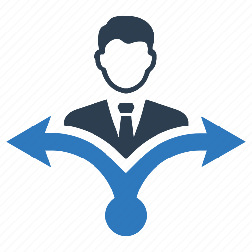 business, direction, solution icon