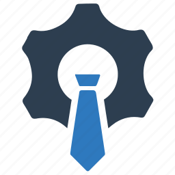 business, gear, management, solution icon