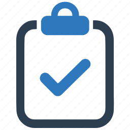 approved, business, clipboard, done, survey, task icon