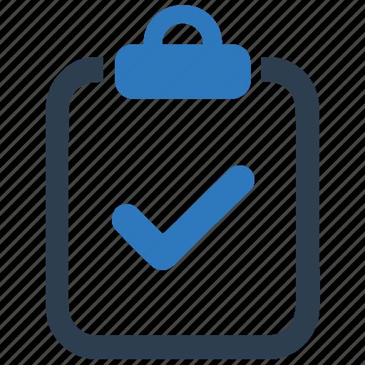 checkmark, clipboard, task icon