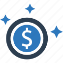 coin, finance, money icon