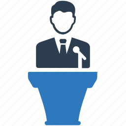 business, conference, lecture, meeting, presentation icon