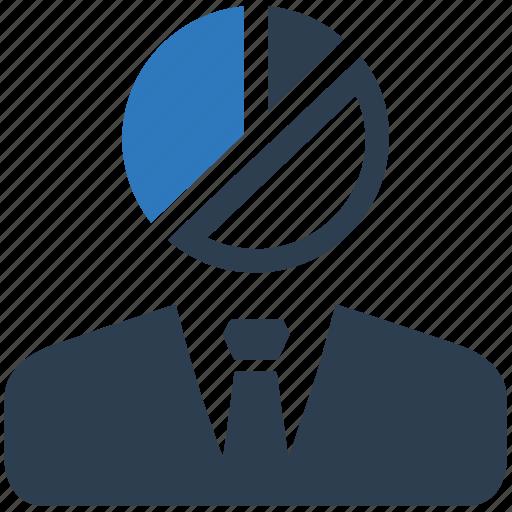 business, pie chart, statistics icon