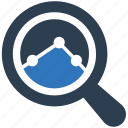 research, search, statisics report icon