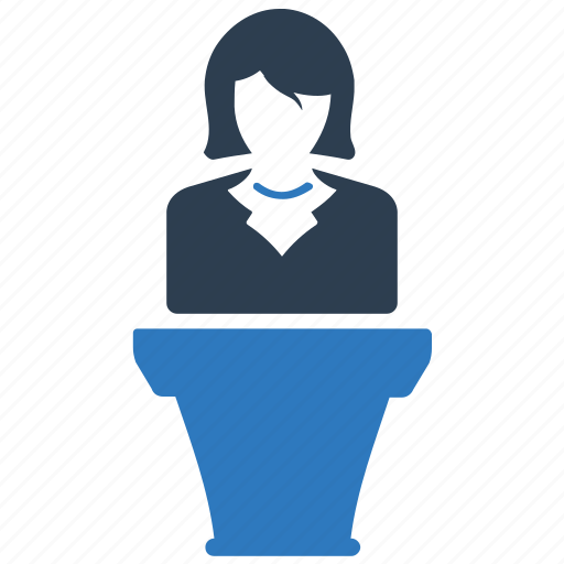 business, business conference, lecture, meeting, presentation icon
