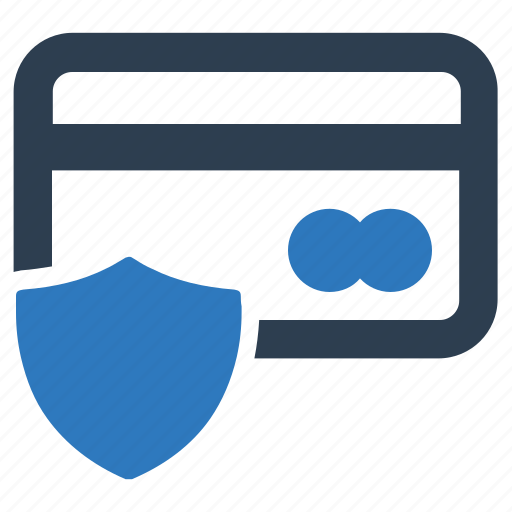 credit card, protection, shield icon
