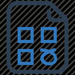 checklist, choice, form, questionnaire, test icon