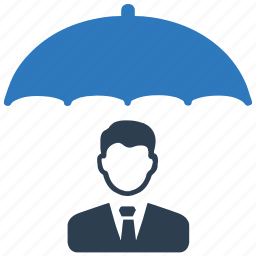 business, crisis, insurance, protection, security, umbrella icon