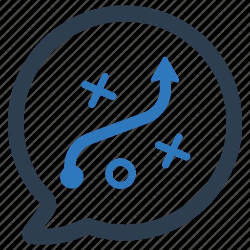 discuss, planning, strategic icon