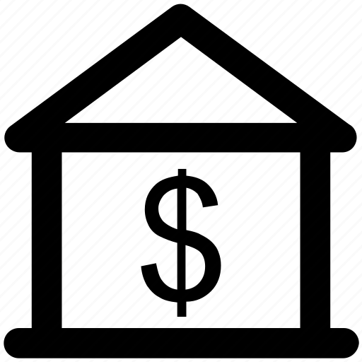 business, dollar, home, house, house for sale, money, property icon