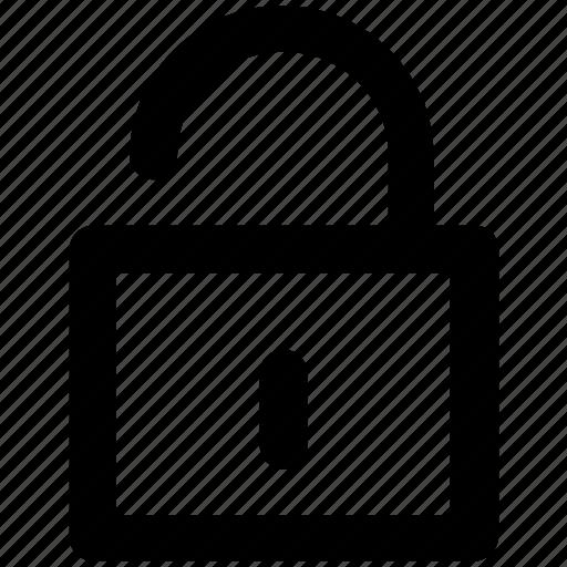 lock open, login, padlock, password, privacy, security, unlock icon
