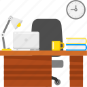 business, desk, laptop, office, working icon