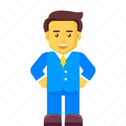 avatar, business, businessman, character icon