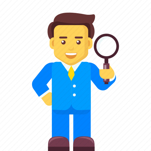 business, businessman, character, find, job, search icon