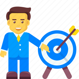 business, character, focus, goal, marketing, target icon