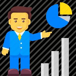 analytics, business, chart, growth, piechart, report icon