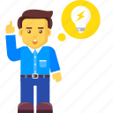 brainstorming, bulb, business, creativity, idea icon