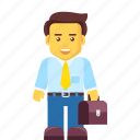 bag, briefcase, business, businessman, leader, salesman icon