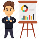 analyst character, business analyst, business analyst professional, businessman presentation, senior trading manager icon