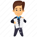 angry businessman, breach of contract, breaking contract, broken contract, business character icon