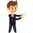 business character, business person, businessman applauding, businessman clapping, clapping gesture of businessman icon